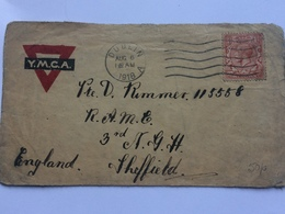 GB - YMCA Cover 1918 With Dublin Mark To Sheffield - 1902-1951 (Kings)