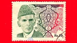 PAKISTAN - Usato - 1994 - Mohamed Ali Jinnah - Rs 10 - Pakistan