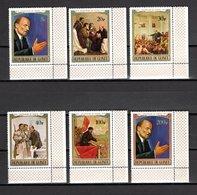 GUINEE N° 422 à 427   NEUFS SANS CHARNIERE COTE 7.25€ LENINE - Guinée (1958-...)