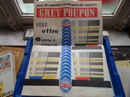 Pour 18 Capsules Ou Disques De Sachets GREY-POUPON Vous Offre 6 Verres à Orangeade ( Moutarde / Vinaigre ) DIJON ! - Publicités