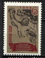 URSS SU 1968, Yvert 3395, Solidarité Avec Les Opposants Grecs, 1 Valeur, Neuf** / Mint MNH. - 1923-1991 URSS