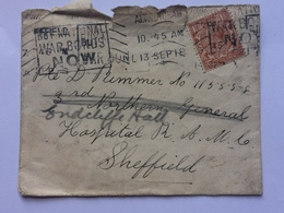GB - George V 1918 Cover Re-directed With `Made In England` Flag Sticker To Rear - 1902-1951 (Kings)