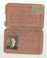 Certificat De Capacité Pour La Conduite Des Voitures Automobiles à Essence De Pétrole ,Indre Et Loire,1922,2 Scans - Vieux Papiers