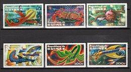 GUINEE N° 451 à 456  NEUFS SANS CHARNIERE COTE 6.50€  ANIMAUX PREHISTORIQUES - Guinée (1958-...)