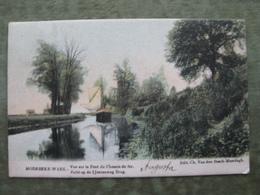 MOERBEKE WAAS - ZICHT OP DE IJZERENWEG BRUG 1906 ( Gekleurd - Schip - 2 Scans ) - Moerbeke-Waas