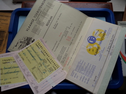 VLAAMSE TOERISTENBOND Reisnr. SP 5.061 > LUXEMBURG ( REISPLAN + Ticket Trans Europ Express ) Anno 1961 > Zie Foto's ! - Titres De Transport