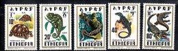 ETP201 - ETIOPIA 1976 ,  Yvert  N. 817/821 *** MNH RETTILI - Etiopia