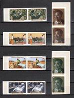 GUINEE N° 590 à 595  PAIRE  NON DENTELEES  NEUFS SANS CHARNIERE COTE ? € PARTI DEMOCRATIQUE DE GUINEE - Guinée (1958-...)