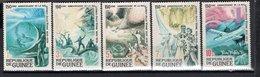 GUINEE N° 633 à 637  NEUFS SANS CHARNIERE COTE 5.50€  JULES VERNE  VOIR DESCRIPTION - Guinée (1958-...)