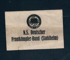 """Militaria 2. Weltkrieg Aufkleber """"N.S. Deutscher Frontkämpfer-Bund"""" (Stahlhelm) - 1939-45"""