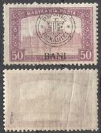 1919 Roman Occupation - Hungary - Cluj Napoca / Kolozsvár / Klausenburg  - Pairlament - Overprint 50f BANI MI 37 I - Transylvanie