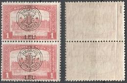 1919 Roman Occupation - Hungary - Cluj Napoca / Kolozsvár / Klausenburg  - Pairlament - Overprint 1K LEU MI 40 I - Transylvanie