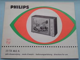 PHILIPS 23 TX 462 A Gebruiksaanwijzing / Mode D'emploi > Voir / Zie Foto's ! - Television