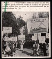 1946  --  CORSE AJACCIO  MANIFESTATION    3Q146 - Vieux Papiers