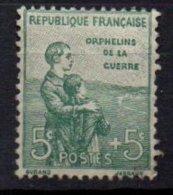 FRANCE - 1ère Orphelins De La Guerre - 5 C. + 5 C. Neuf - France