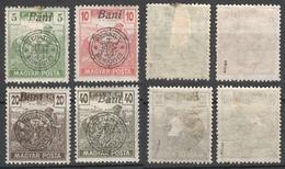 1919 Roman Occupation - Hungary - Oradea / Nagyvárad - Harvester Magyar Posta -  MH - Mi 65II 66II 67II 69II - Transylvanie