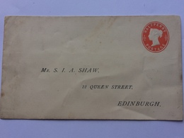 GB - Victoria Pre-paid Cover Addressed To Edinburgh But No Postmark - 1840-1901 (Victoria)