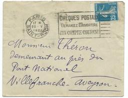 ENVELOPPE SEMEUSE / PARIS R ST ROCH 1921 - 1921-1960: Modern Period