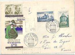 Turquie Lettre Affranchie 750e Anniversaire De Mevlana - 1921-... République