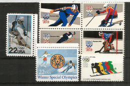 USA.Winter Olympics (Lake Placid,Alberta,Sapporo,Park City Utah)  7 Timbres Neufs ** - Hiver