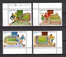 GUINEE N° 692 à 695  NEUFS SANS CHARNIERE COTE 7.50€  FOOTBALL - Guinée (1958-...)
