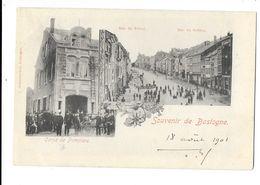"""Bastogne  ( M 3180 )  """" Souvenir De Bastogne """"  ( Corps De Pompiers Avec Grand échelle  & Rue Du Vivier / Sablon) - Bastogne"""