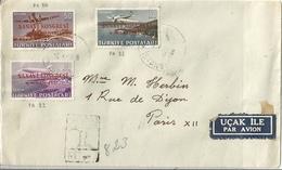 Turquie Lettre Affranchie Poste Aérienne - 1921-... République