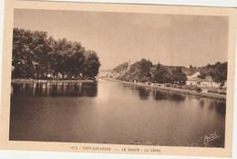PORT- SUR- SAONE   HAUTE SAONE     70   CPA   SEPIA    LE BASSIN -  LE CANAL - France