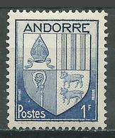 Andorre Français YT N°119 Armoiries Neuf/charnière * - Nuevos