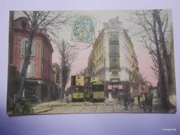 LE PERREUX-Avenue Ledru Rollin Et Rue De La Station-Tramways-Carte Couleur - Le Perreux Sur Marne