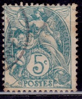 France 1900, Liberty, Equality, Fraternity, 5c, Sc#113, Used - 1900-29 Blanc
