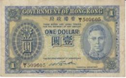 Hong Kong #316, 1 Dollar 1940-41 Banknote Currency - Hong Kong