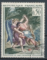 """France - YT 1376 Oblitéré. Tableau De Delacroix """"Lutte De Jacob Avec L'Ange"""" - Oblitérés"""
