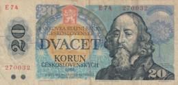 Czechoslovakia #95 20 Korun1988 Banknote - Czechoslovakia