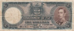 Fiji #37c 5 Shillings1940 Banknote Currency - Fidji