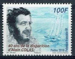 French Polynesia, Alain Colas, French Sailor, 2018, MNH VF - French Polynesia