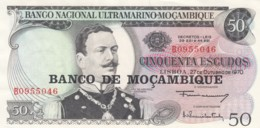 Mozambique #111 50 Escudos 1970 Banknote Currency - Mozambique