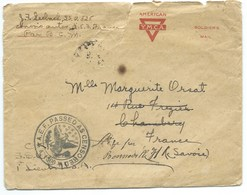 ENVELOPPE AMERICAN YMCA / AEF PASSED AS CENSORED 1300 1918 / POUR BONNEVILLE FRANCE - Stati Uniti