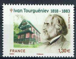 France, Ivan Turgenev, Russian Writer, 2018, MNH VF - Unused Stamps
