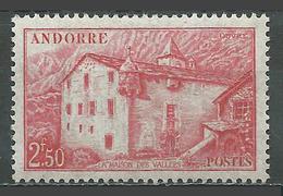 Andorre Français YT N°105 La Maison Des Vallées Neuf ** - Neufs