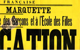 """Timbre Fiscal:  Timbre Fiscal Type """"Série Unifiée"""" Sur Fragment D'affiche - Revenue Stamps"""