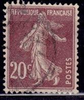 France, 1906-37, Sower, 20c, Sc#166, Used - 1903-60 Sower - Ligned
