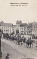 POPERINGHE CUIRASSIERS FRANCAIS SUR LA GRAND' PLACE Circulée (militaire Pharmacie Tacot ) - Poperinge