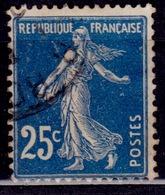 France, 1906-37, Sower, 25c, Sc#168, Used - 1903-60 Sower - Ligned