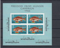 Ghana (BBK) Michel Cat.No. Mnh/** Sheet 21 Fish - Ghana (1957-...)