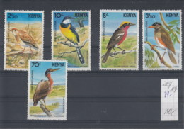 Kenia (BBK) Michel Cat.No. Mnh/** 283/287 Birds - Kenya (1963-...)
