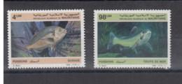 Mauretanien (BBK) Michel Cat.No. Mnh/** 899/900 Fish - Mauritania (1960-...)