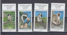 Namibia (BBK) Michel Cat.No. Mnh/** 1115/1118 Monkey - Namibie (1990- ...)