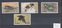 Sambia (BBK) Michel Cat.No. Mnh/** 349/352 Insets - Zambie (1965-...)