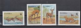 Sambia (BBK) Michel Cat.No. Mnh/** 438/441 Wwf - Zambie (1965-...)